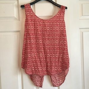 Lucky Brand Red & White Tank